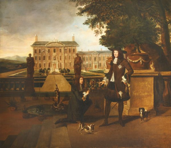 he portrait of Charles II with the Royal Gardener, John Rose