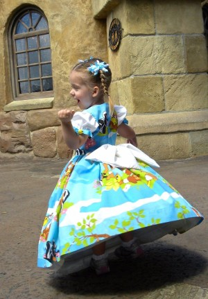 This dress was sewn from a Bambi bed sheet!