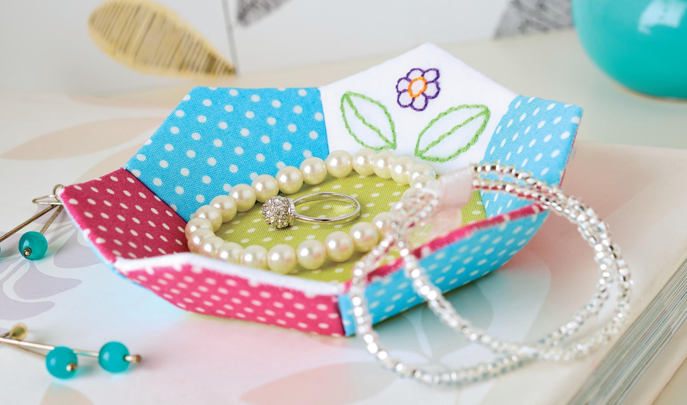 Patchwork jewellery dish