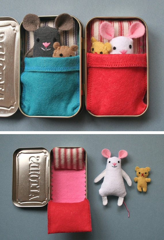 Sew a wee mouse in a tin house sleepover friends