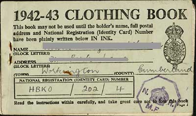 Fabric clothing ration book