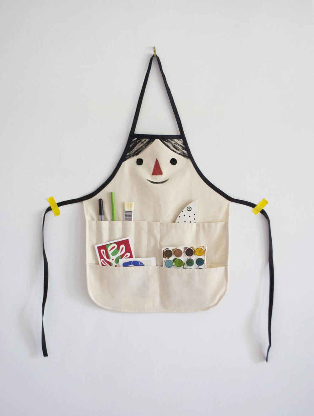 Make a kids craft apron