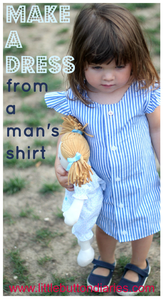 Little girl shirt dress