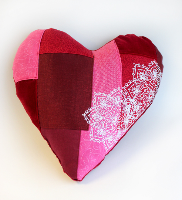Patchwork Heart Pillow