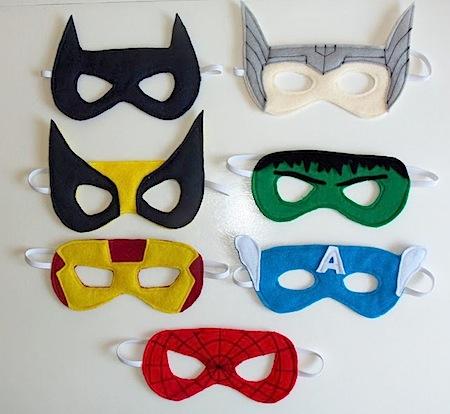 Sew superhero kids masks