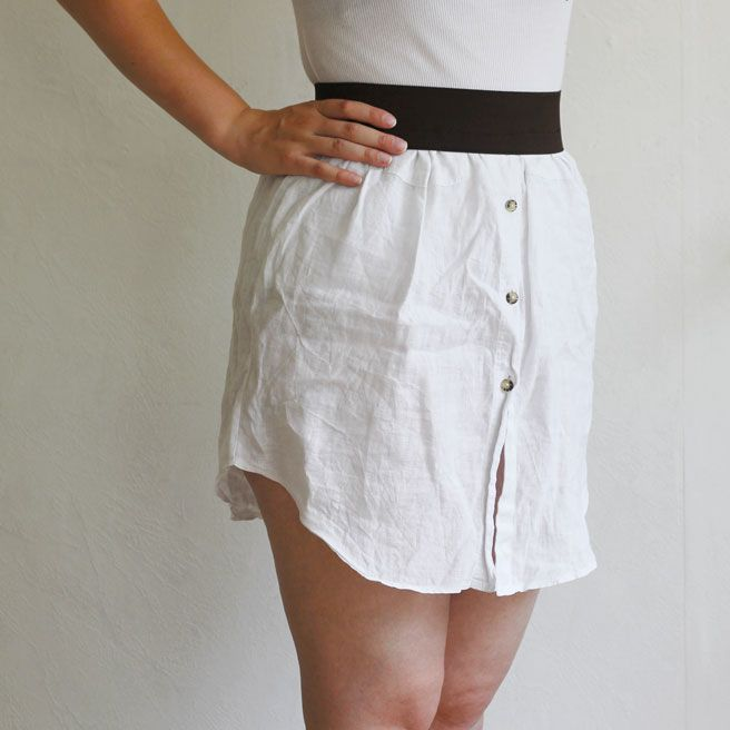 upcycled shirt skirt