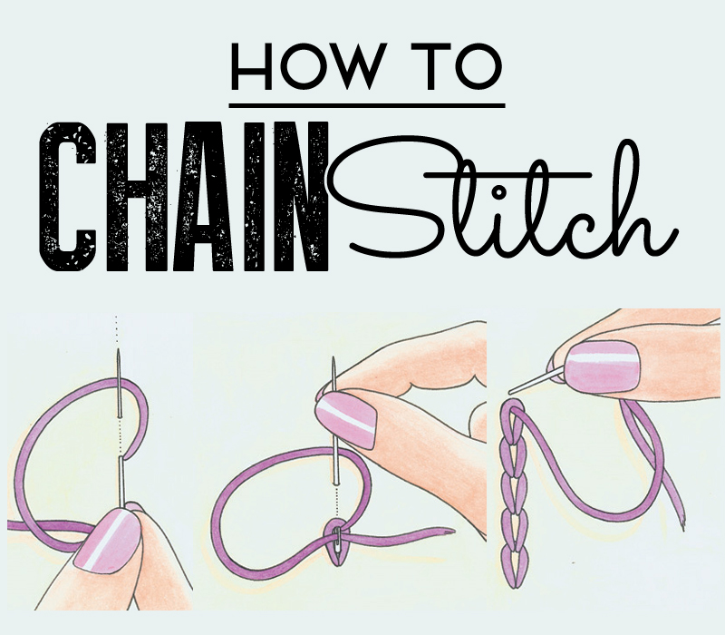 How To Chain Stitch How To Sew Sew Magazine