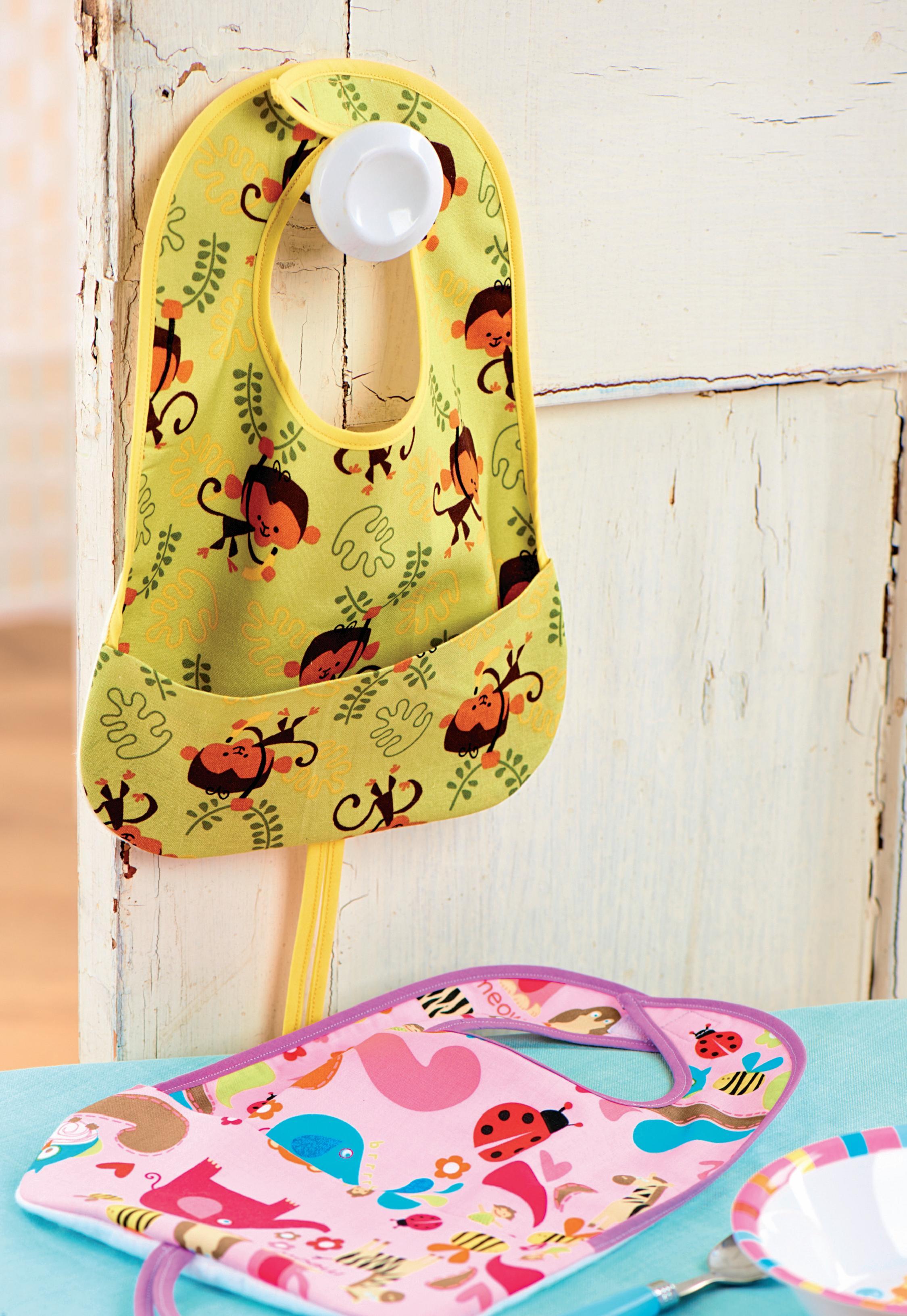 Animal Print Baby Bibs Free Sewing Patterns Sew Magazine