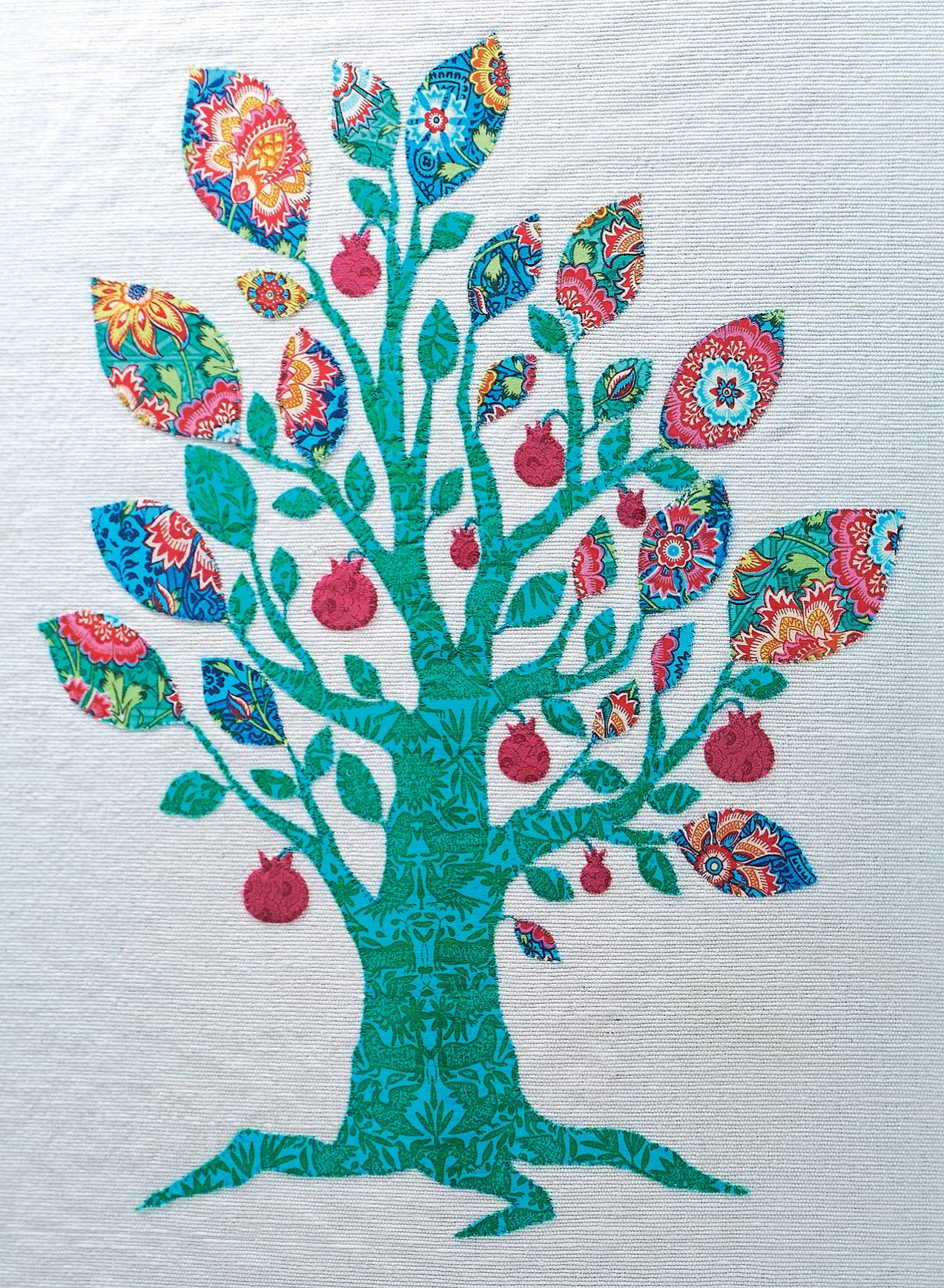 Tree of Life Applique Picture - Free sewing patterns - Sew Magazine