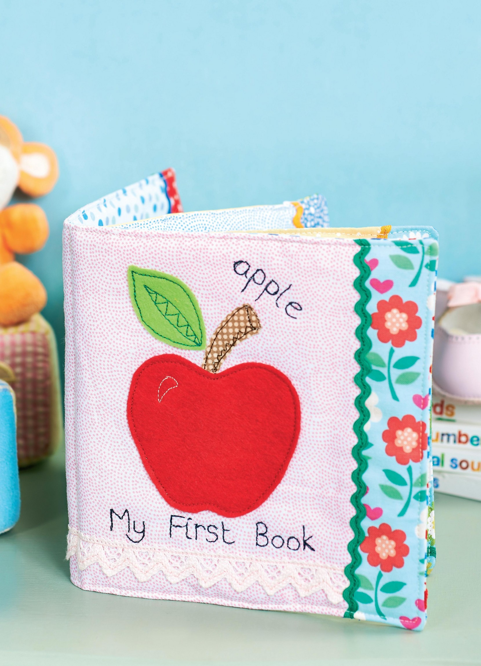 Book Cover Pattern Uk : Baby picture cloth book free sewing patterns sew magazine