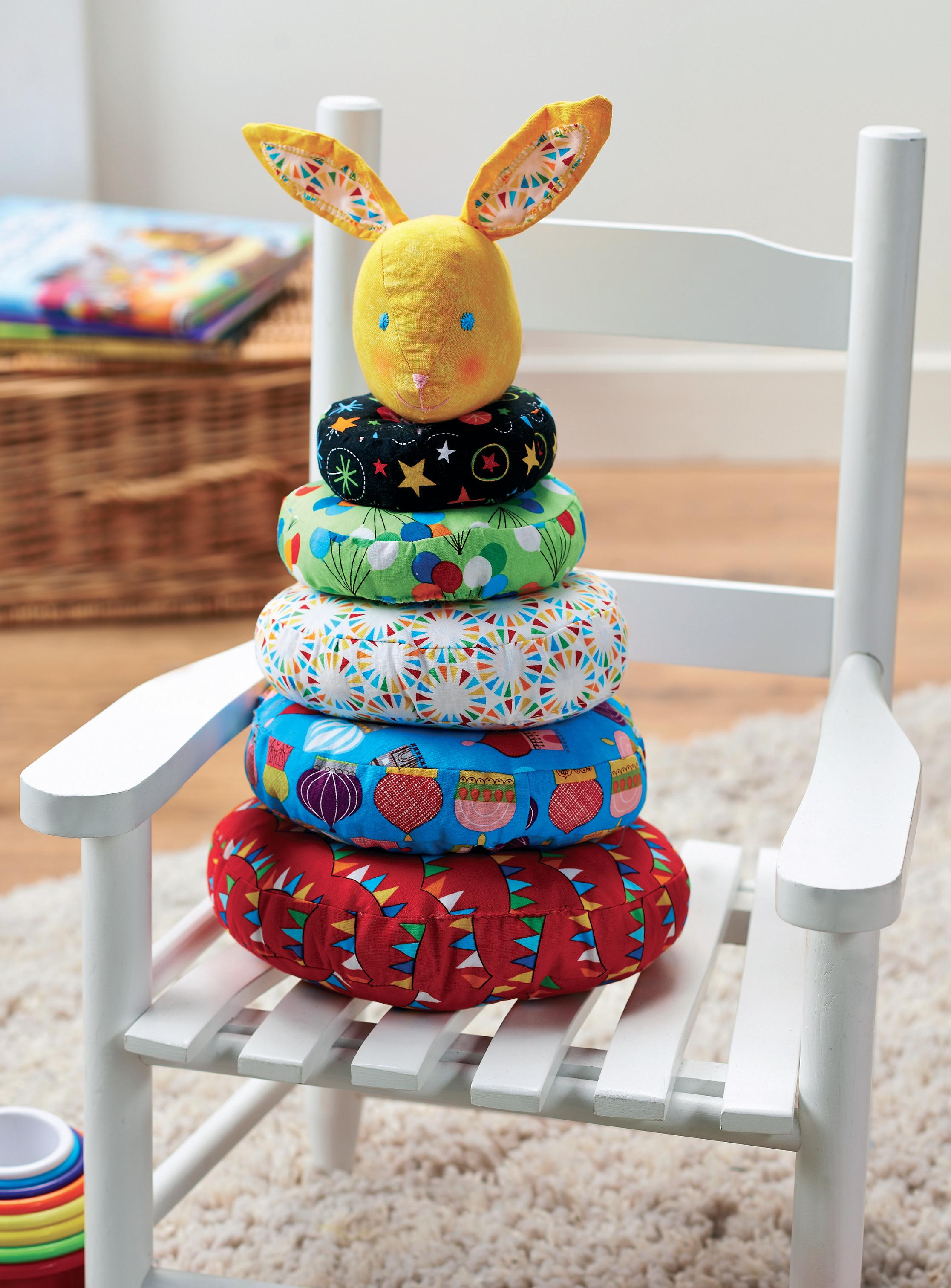 Fabric Baby Stacking Ring Game Free Sewing Patterns