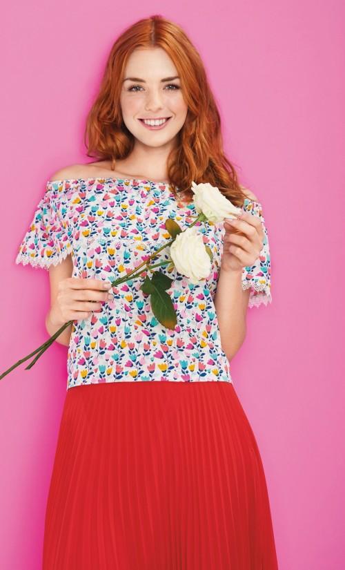 Bardot Top Free Sewing Patterns Sew Magazine