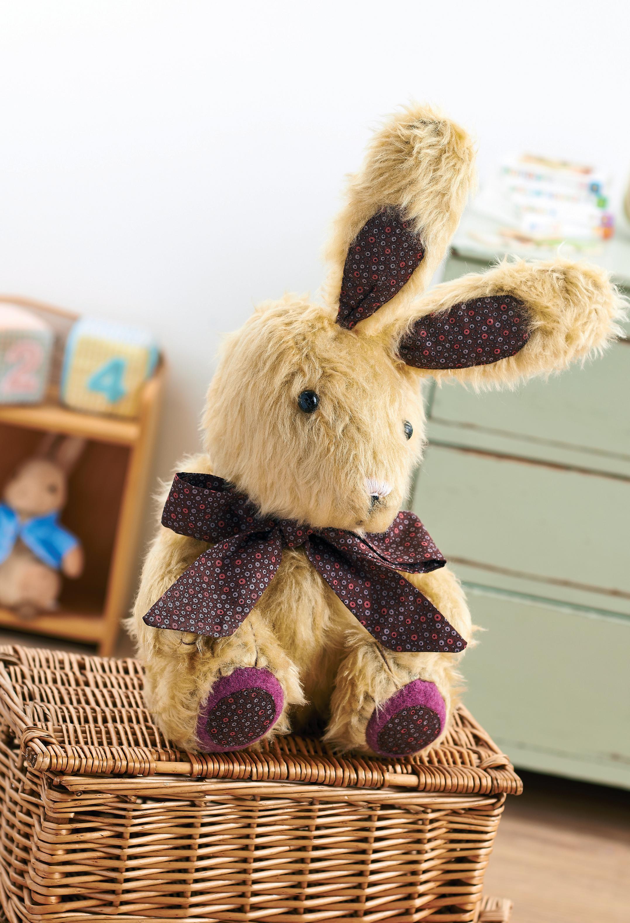 Toys Easter Magazine : Plush bunny rabbit toy free sewing patterns sew magazine