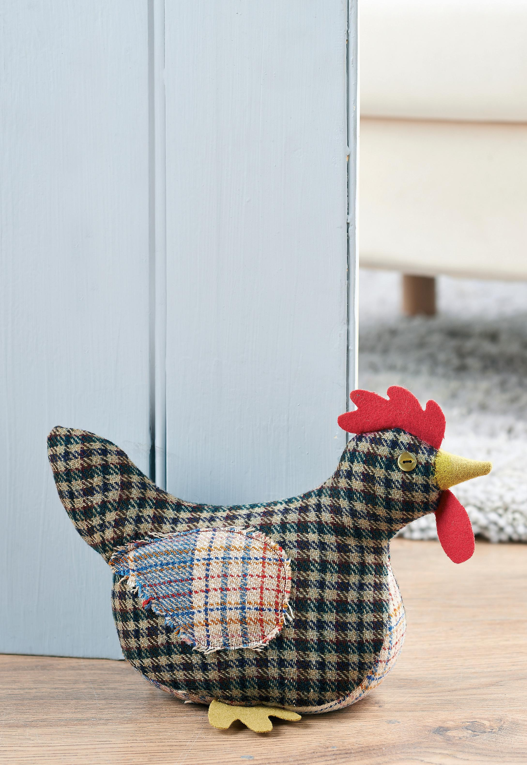 Tweed Chicken Doorstop Free Sewing Patterns Sew Magazine