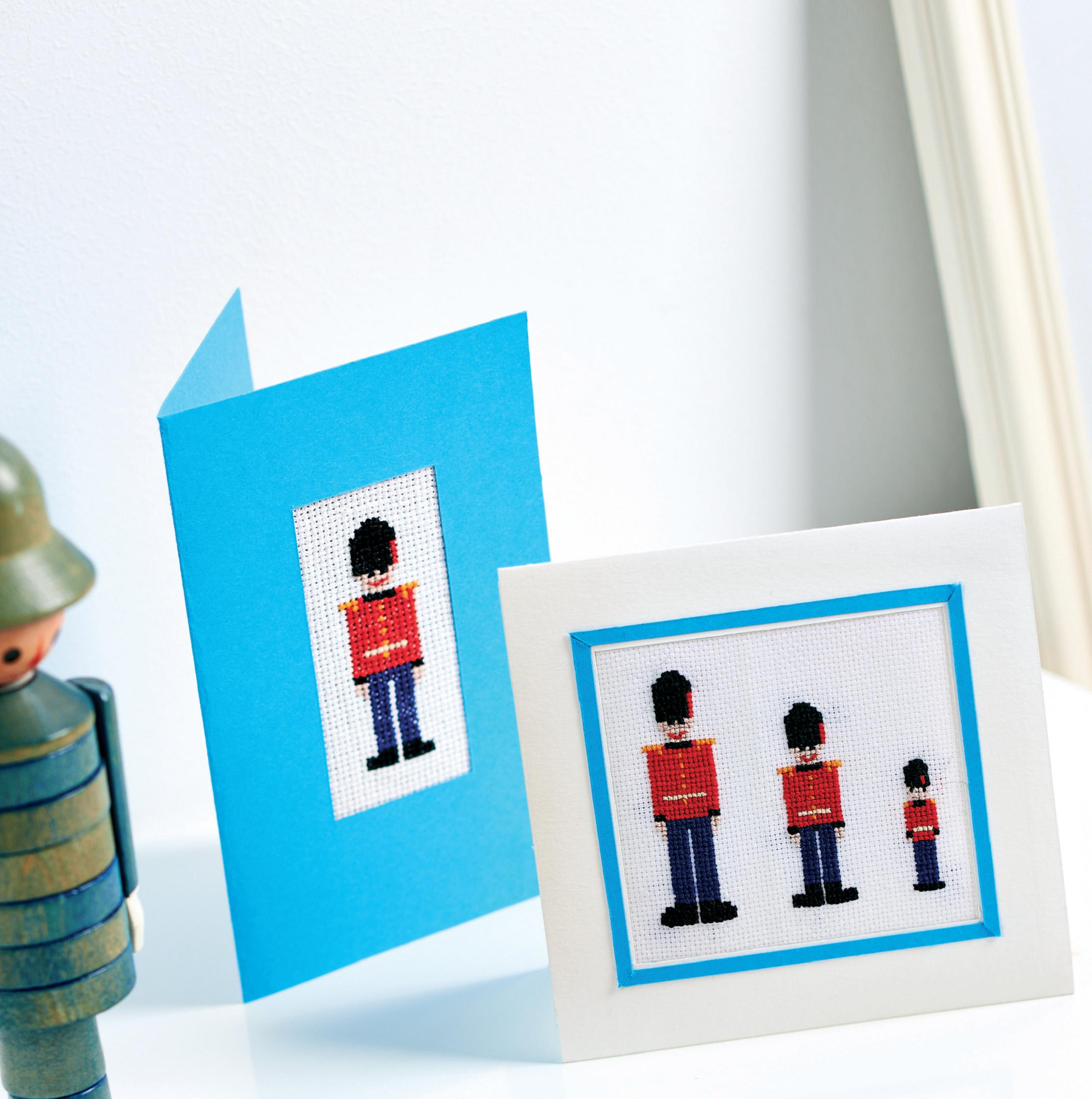 Cross Stitch Soldiers Cards, Frames and Tags - Free sewing patterns ...