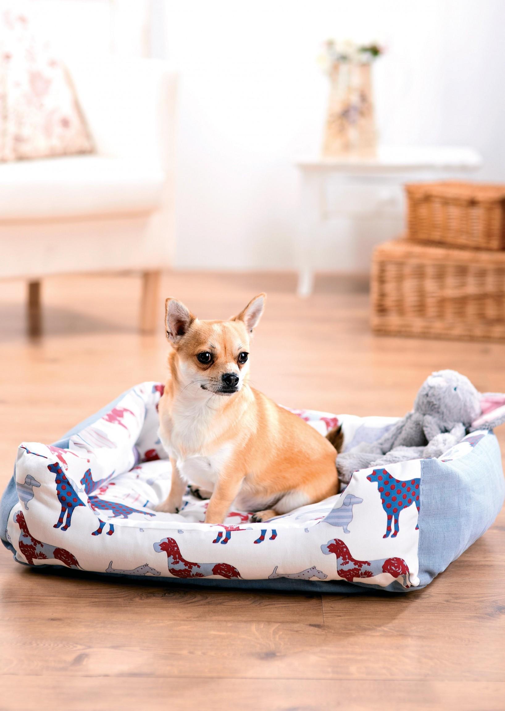 Dog Print Dog Bed And Coat Free Sewing Patterns Sew Magazine