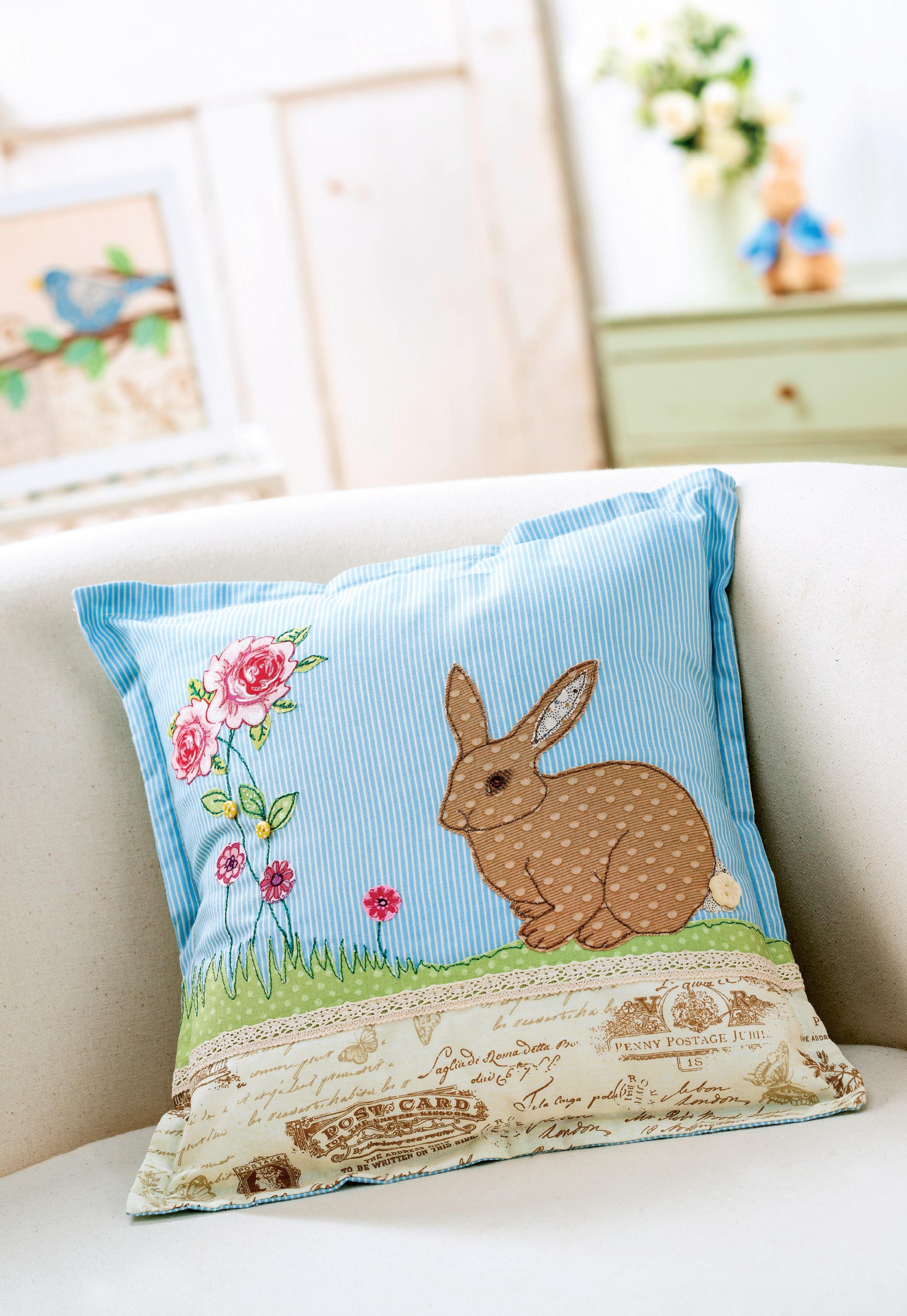 Easter Applique Cushion And Picture Free Sewing Patterns