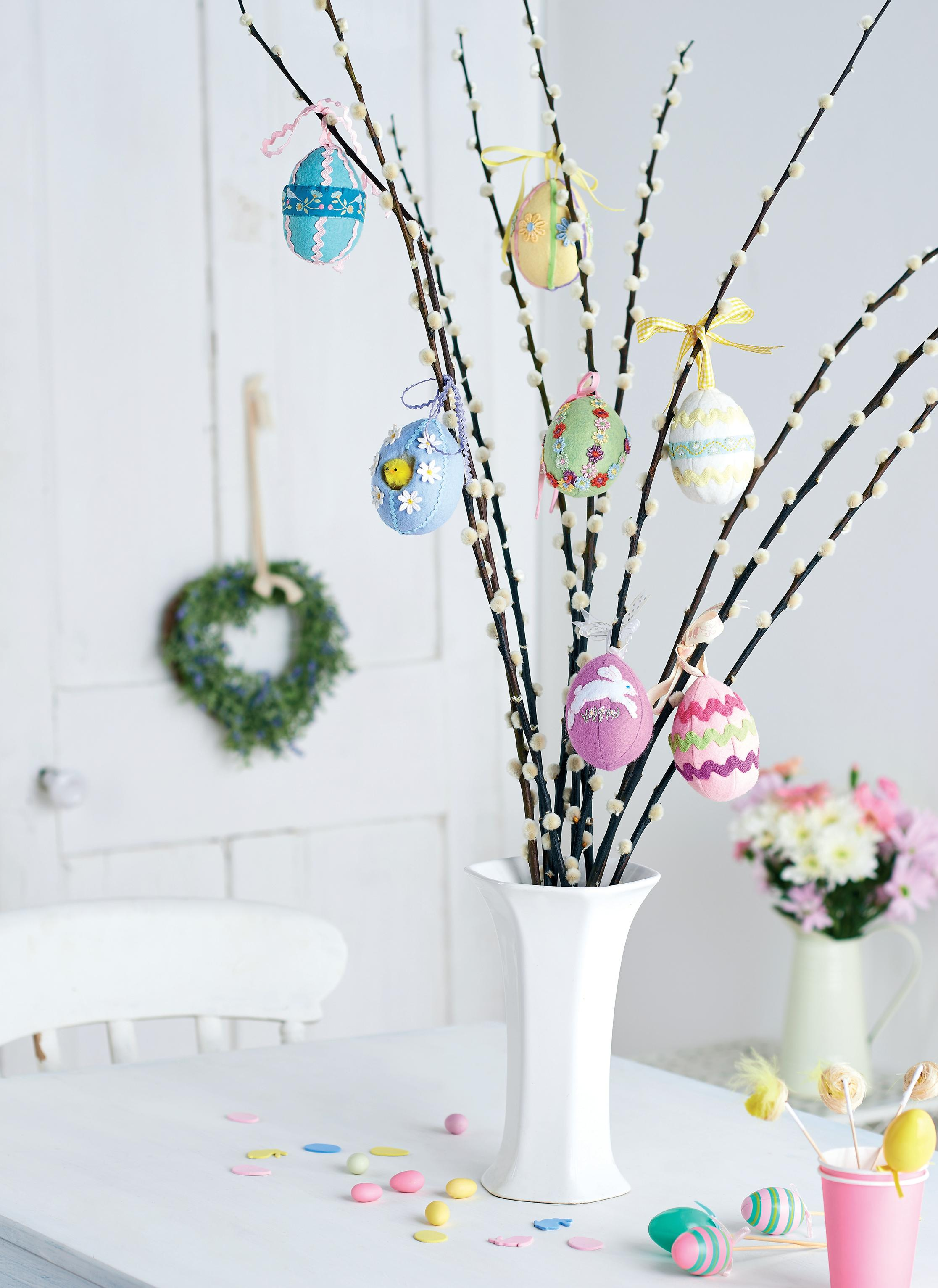 spring easter tree egg decorations free sewing patterns. Black Bedroom Furniture Sets. Home Design Ideas