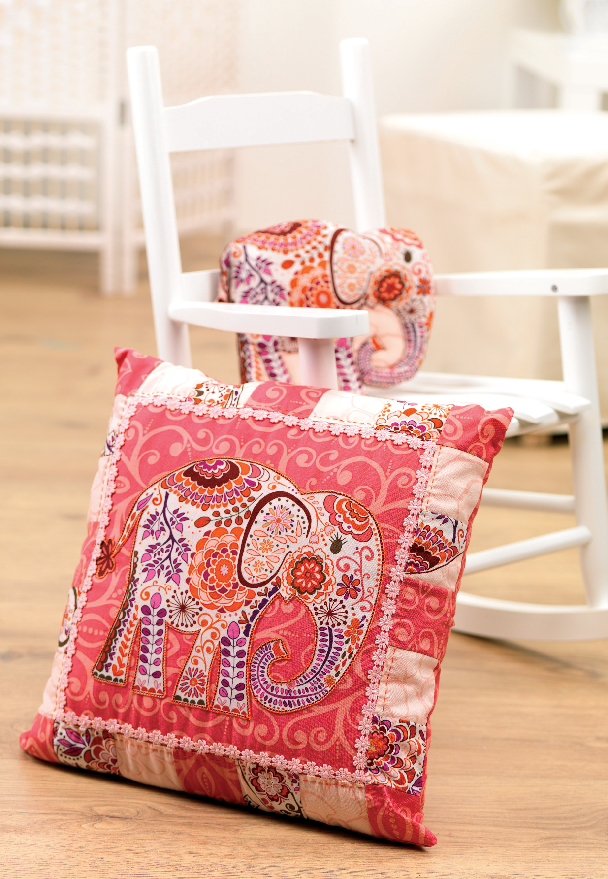 Elephant Cushion And Toy Free Sewing Patterns Sew Magazine