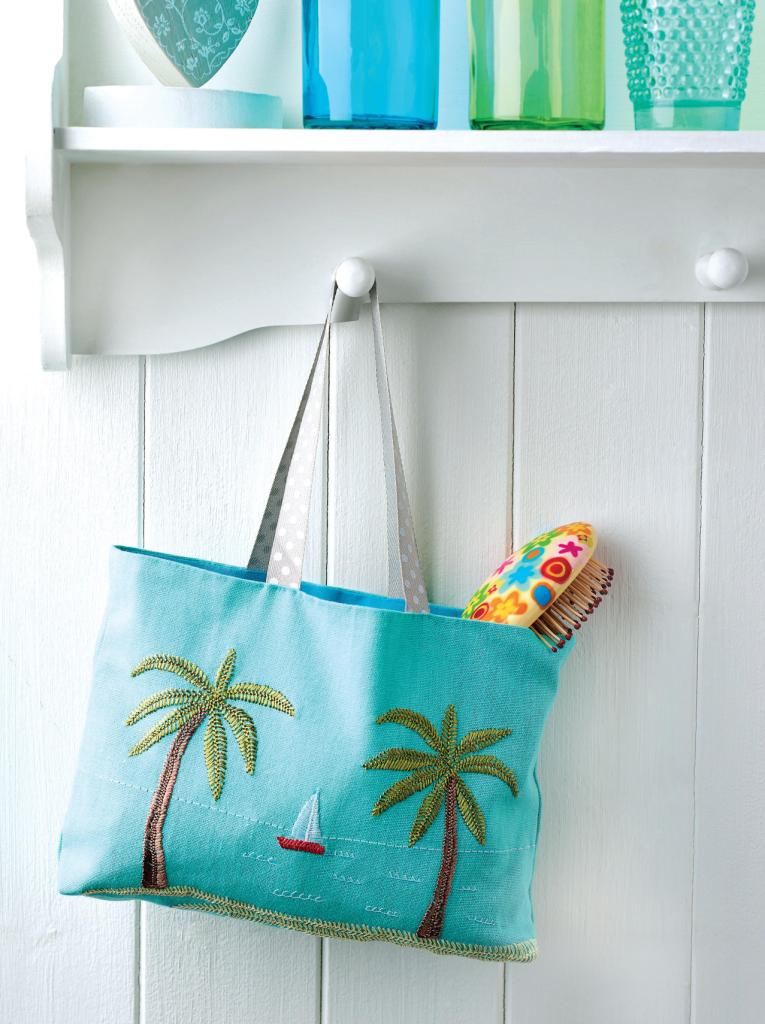 Embroidered Beach Bag Free Sewing Patterns Sew Magazine