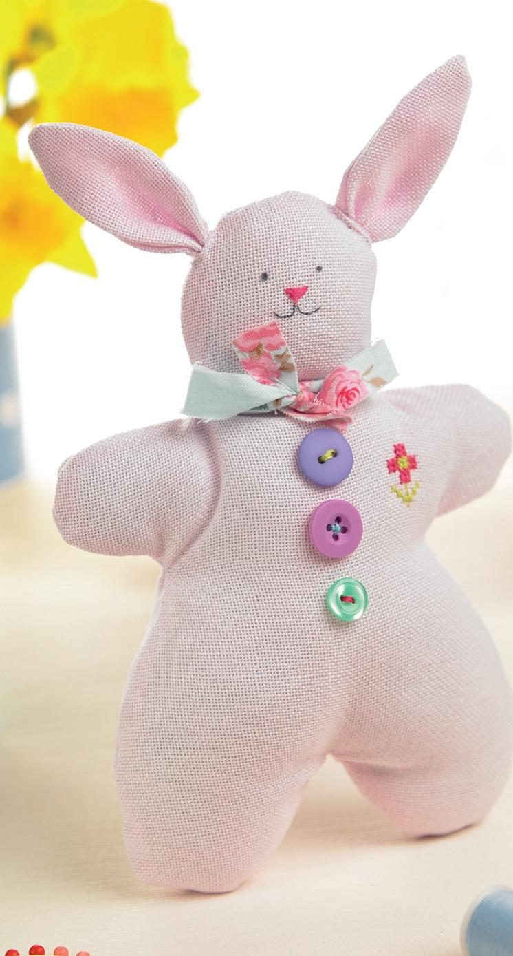 Evenweave Easter Bunny Free Sewing Patterns Sew Magazine
