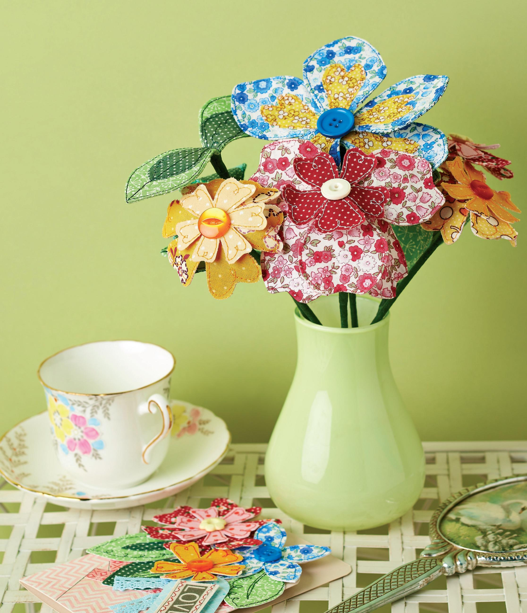 Mother S Day Fabric Flower Bouquet Free Sewing Patterns