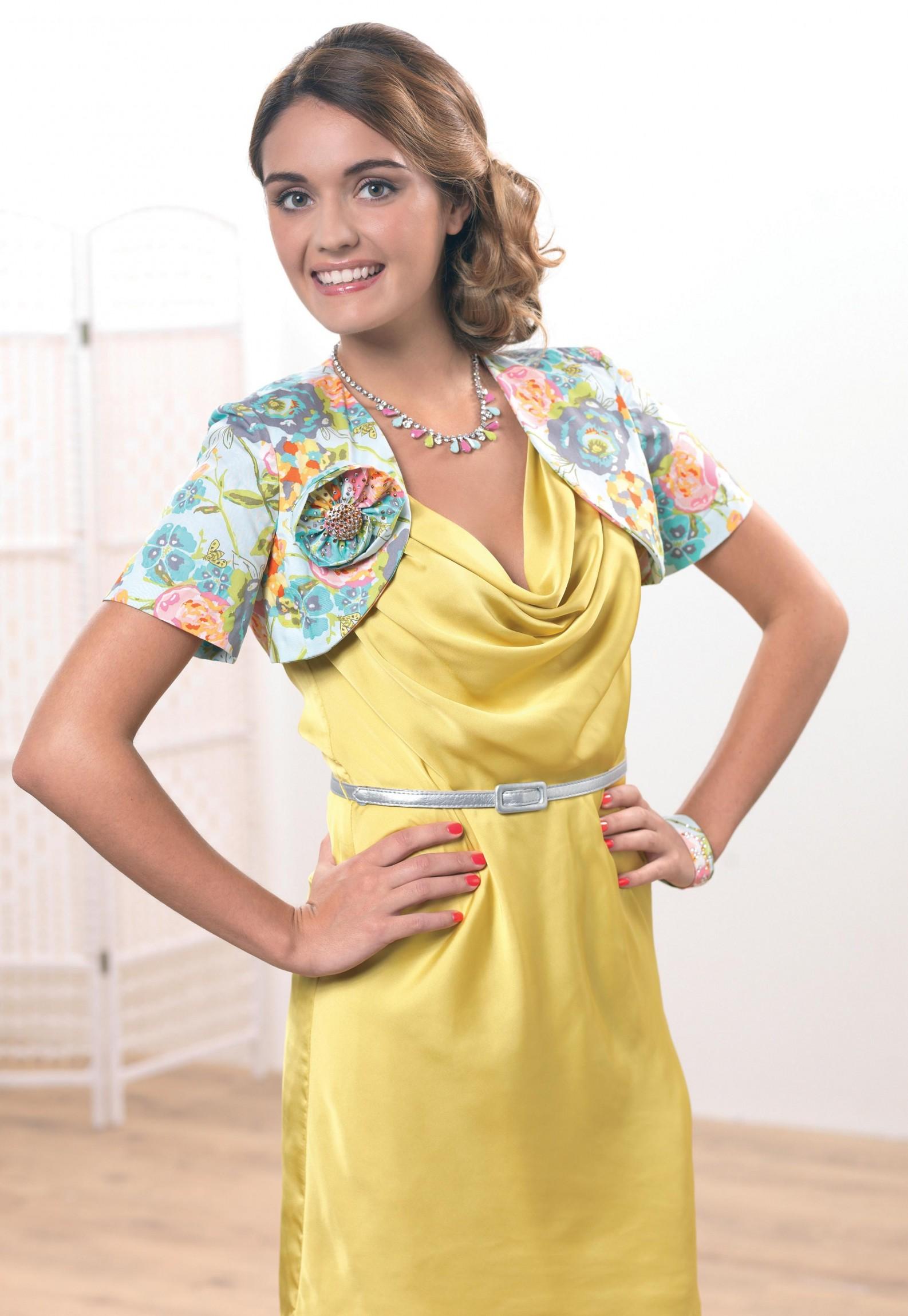 Floral Bolero Jacket Free Sewing Patterns Sew Magazine