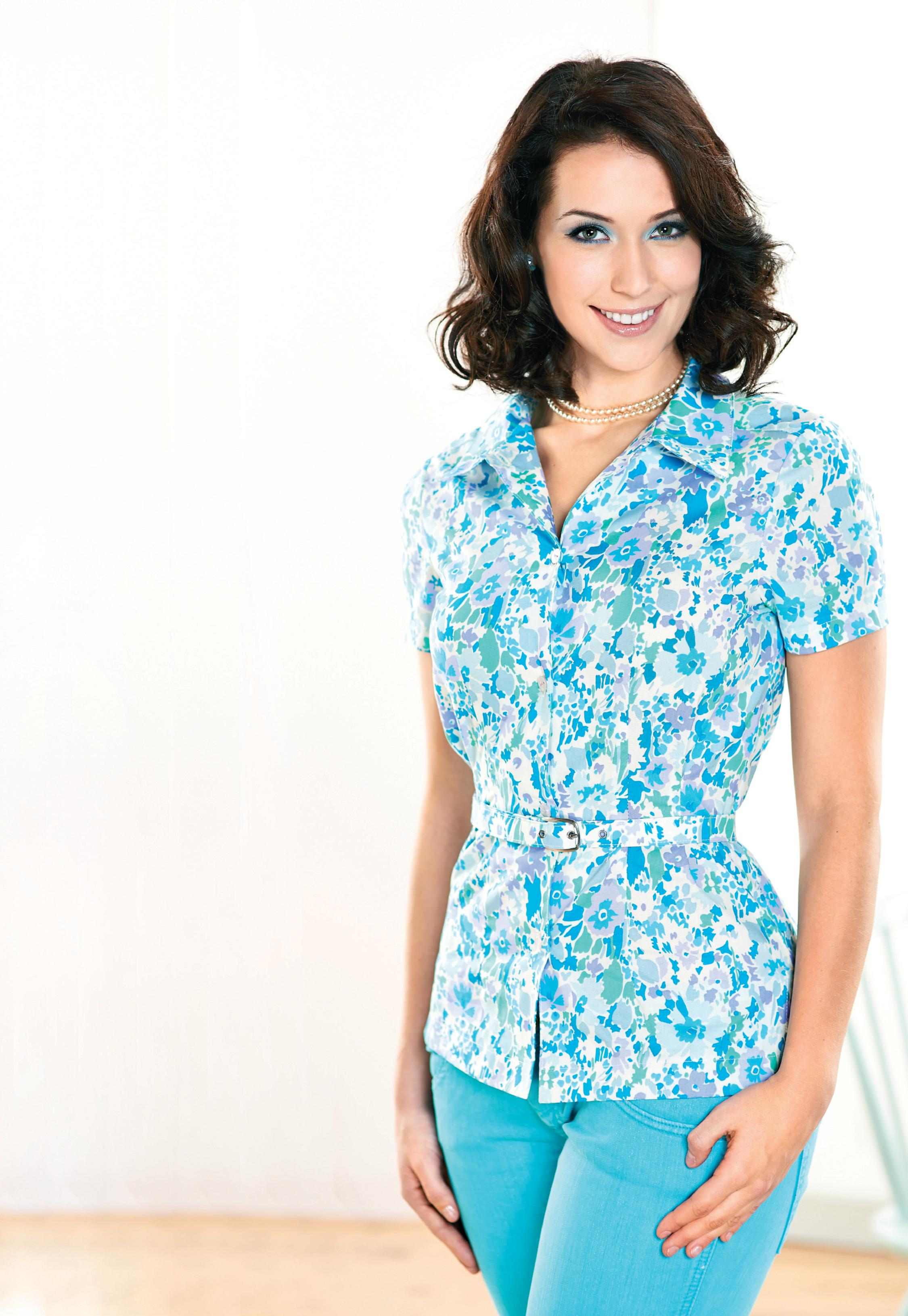 floral liberty print blouse - free sewing patterns