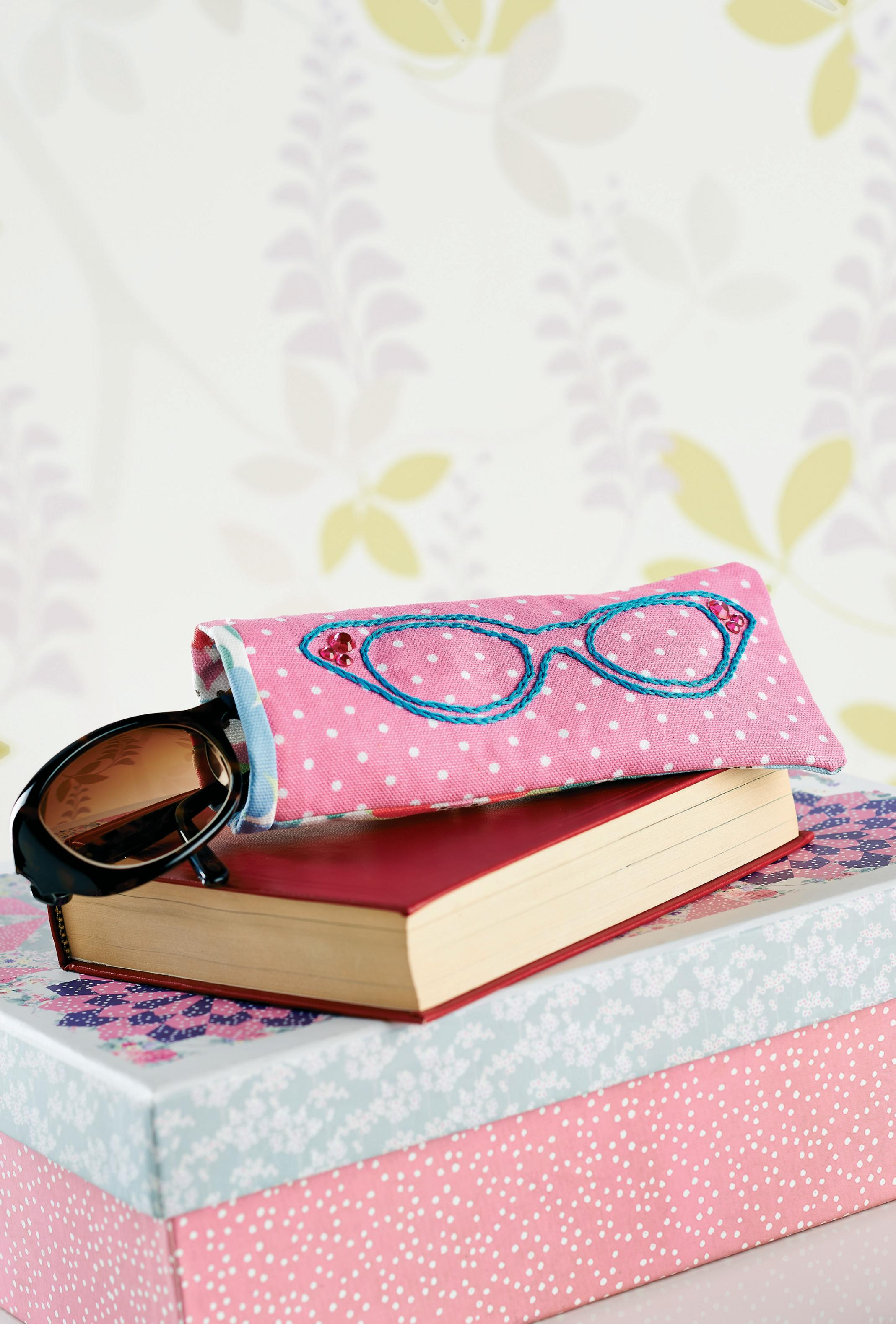 Lunchtime Make Embroidered Glasses Case Free Sewing