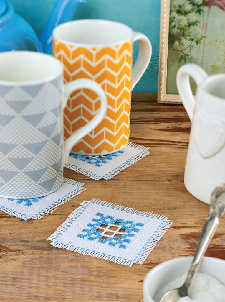 Hardanger Embroidery Coasters Free Sewing Patterns Sew