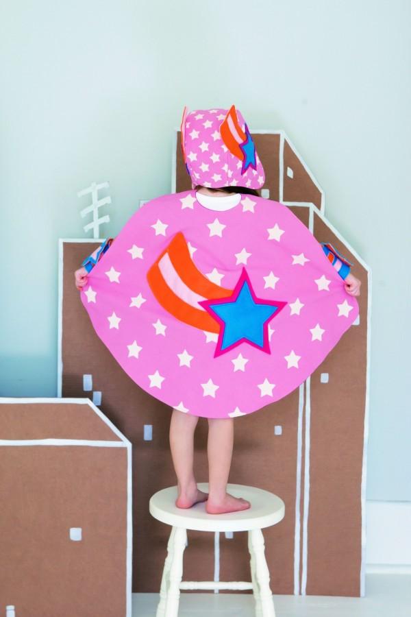 Kid's Superhero Cape Free Sewing Patterns Sew Magazine Custom Kids Cape Pattern