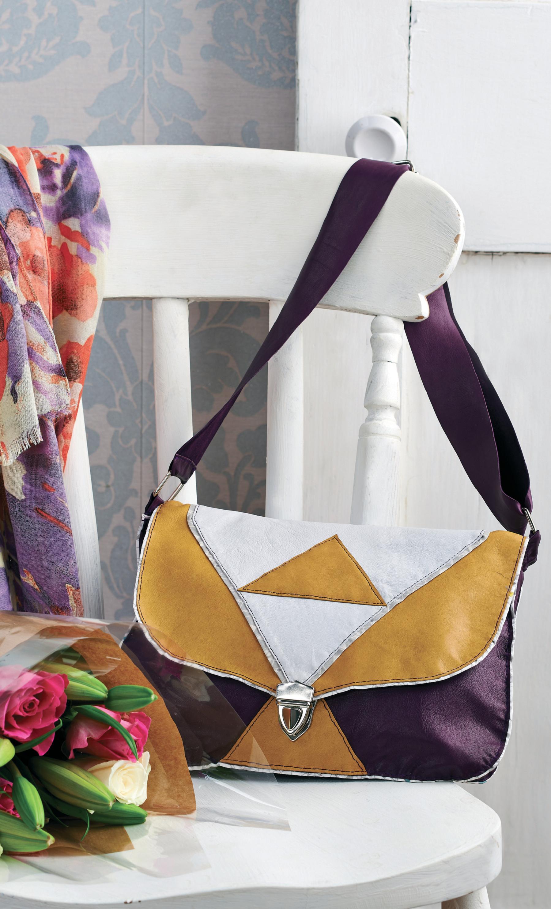 Geometric Leather Bag Free Sewing Patterns Sew Magazine
