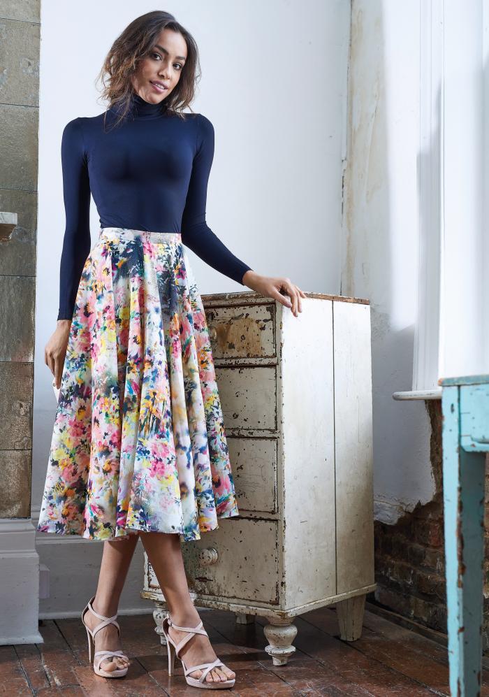 No Pattern Midi Skirt Free Sewing Patterns Sew Magazine