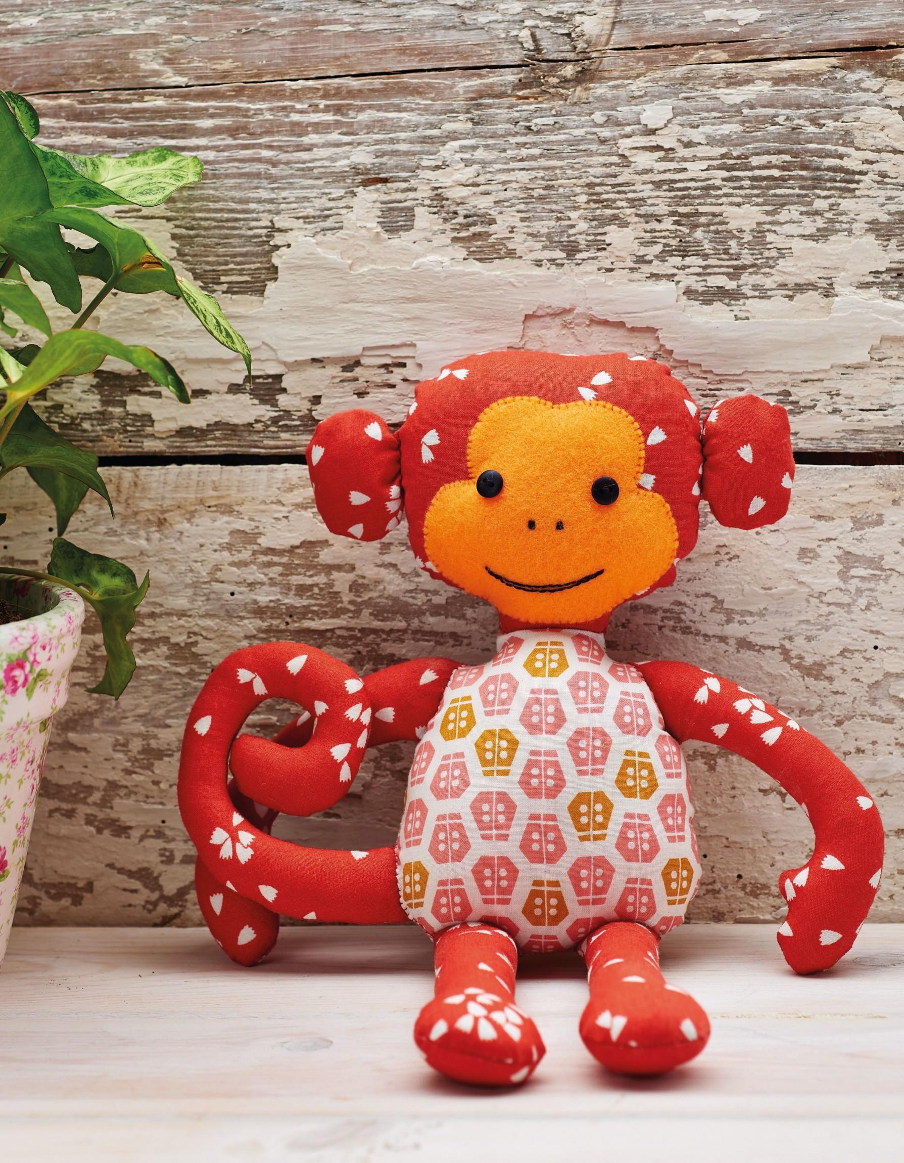 Monkey toy free sewing patterns sew magazine jeuxipadfo Choice Image