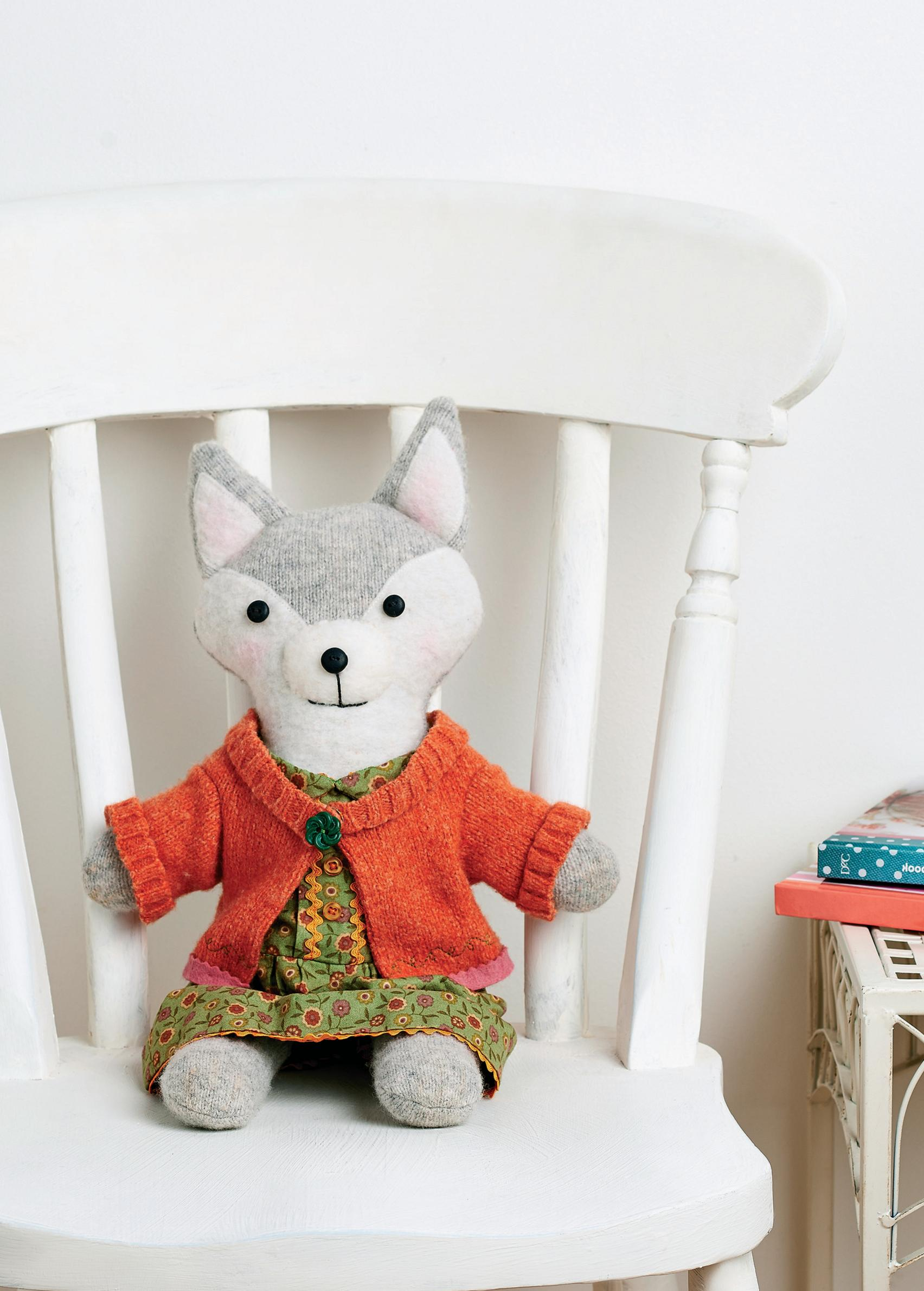 Upcycled Toy Fox Free Sewing Patterns Sew Magazine