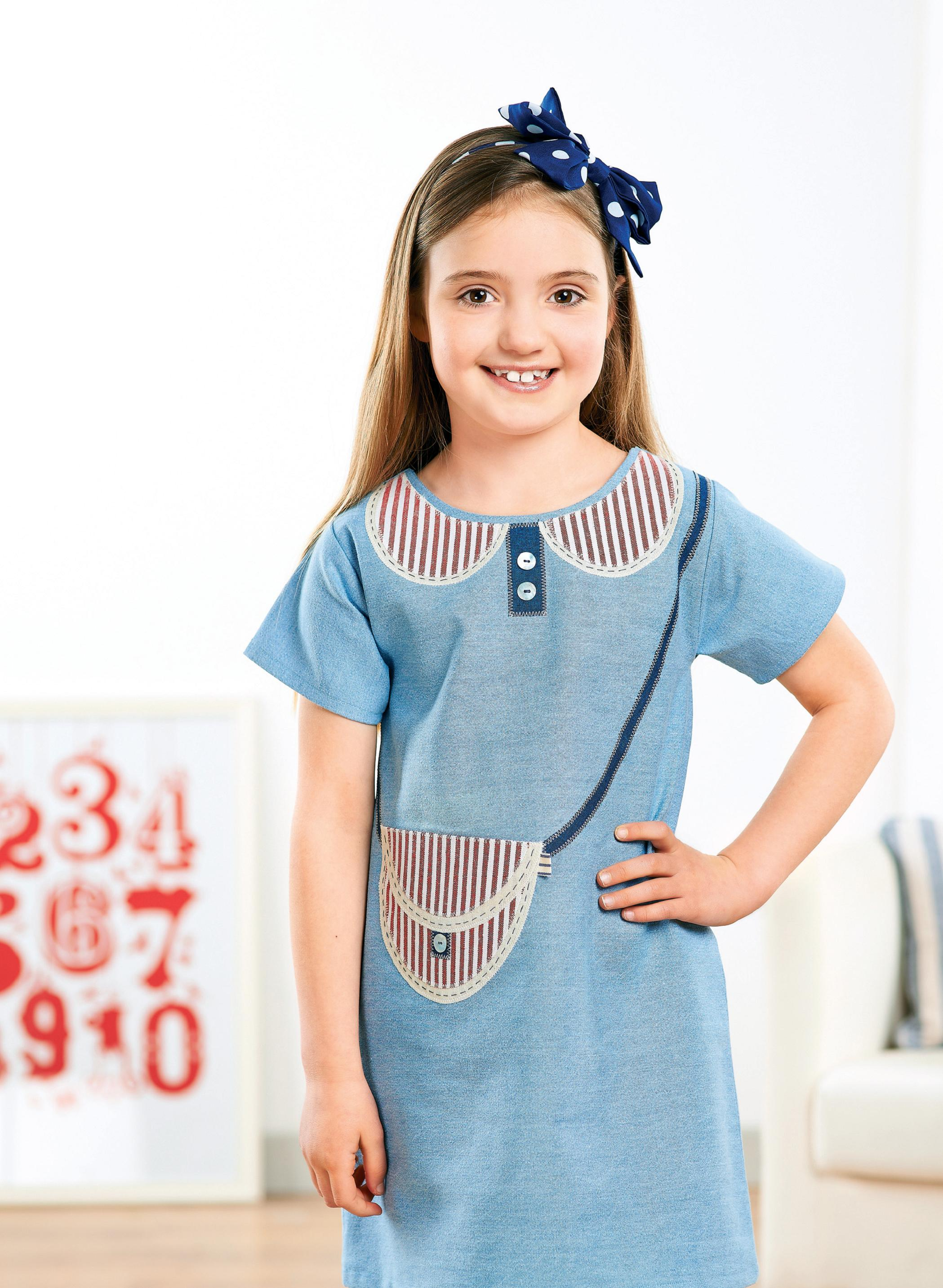 Young Girl S Nautical Applique Dress Free Sewing