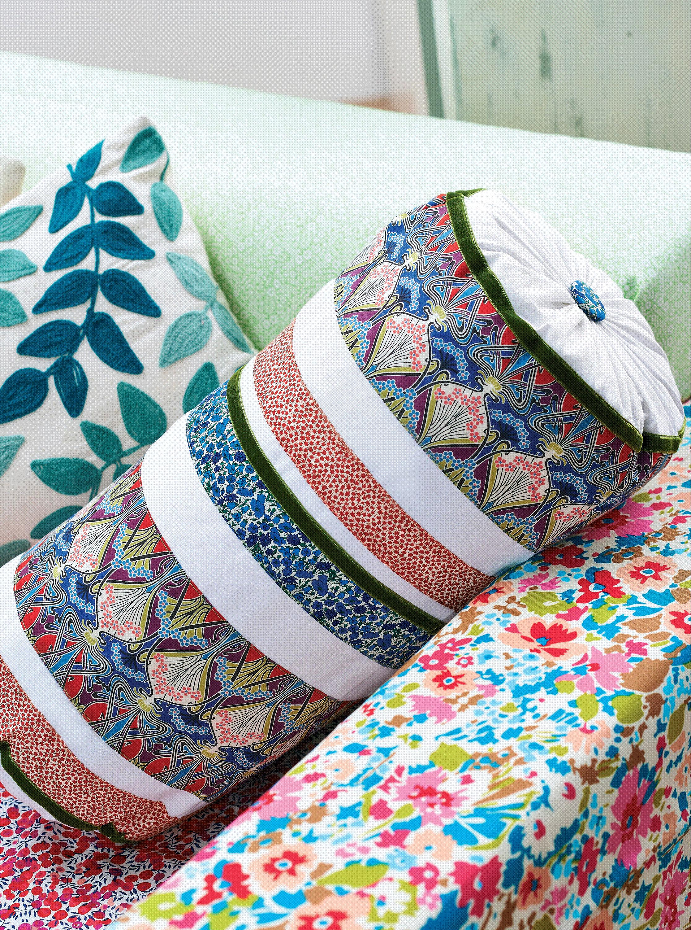 Liberty Print Bolster Cushion Free Sewing Patterns Sew