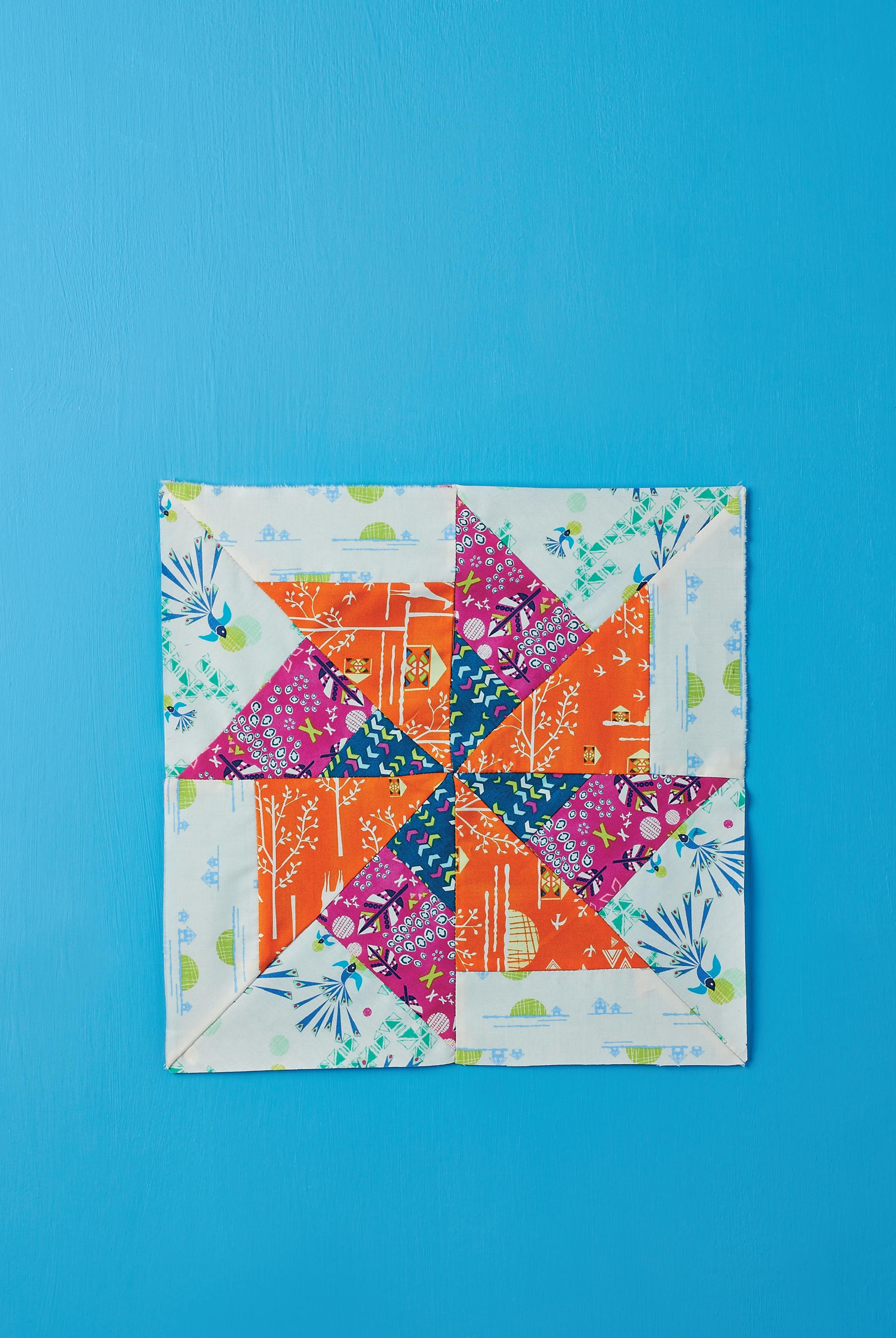 Patchwork Collectable Series Pinwheel Block Free Sewing