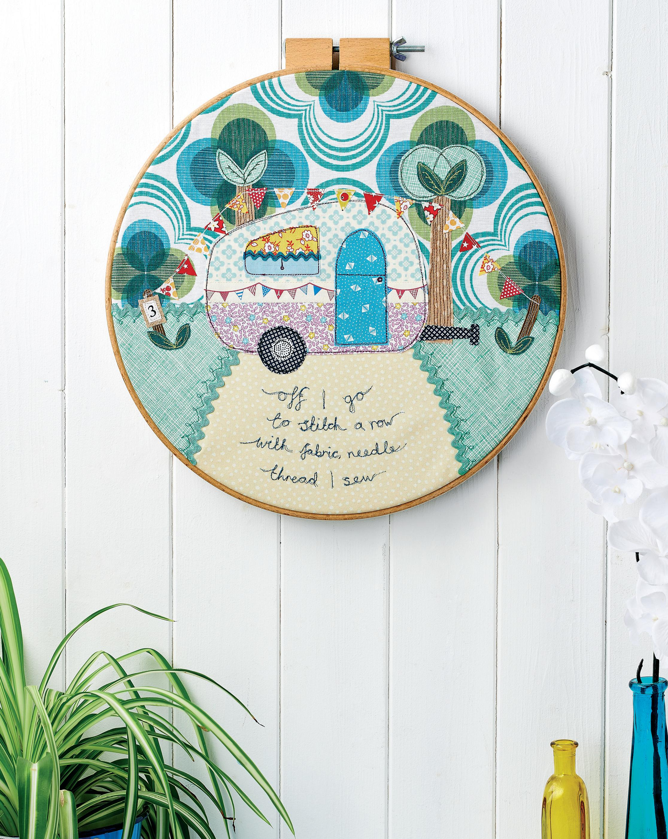 Campervan Embroidered Hoop Free Sewing Patterns Sew