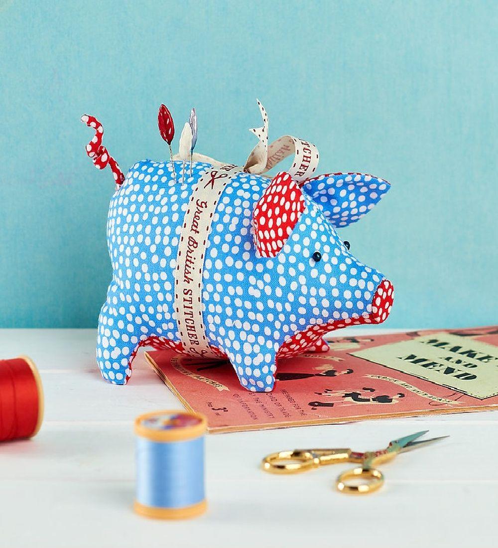 Piggy Pincushion Free Sewing Patterns Sew Magazine