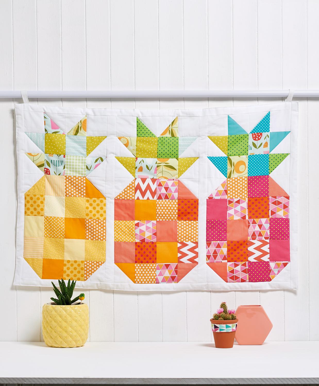 Pineapple Block Wall Hanging Free Sewing Patterns Sew