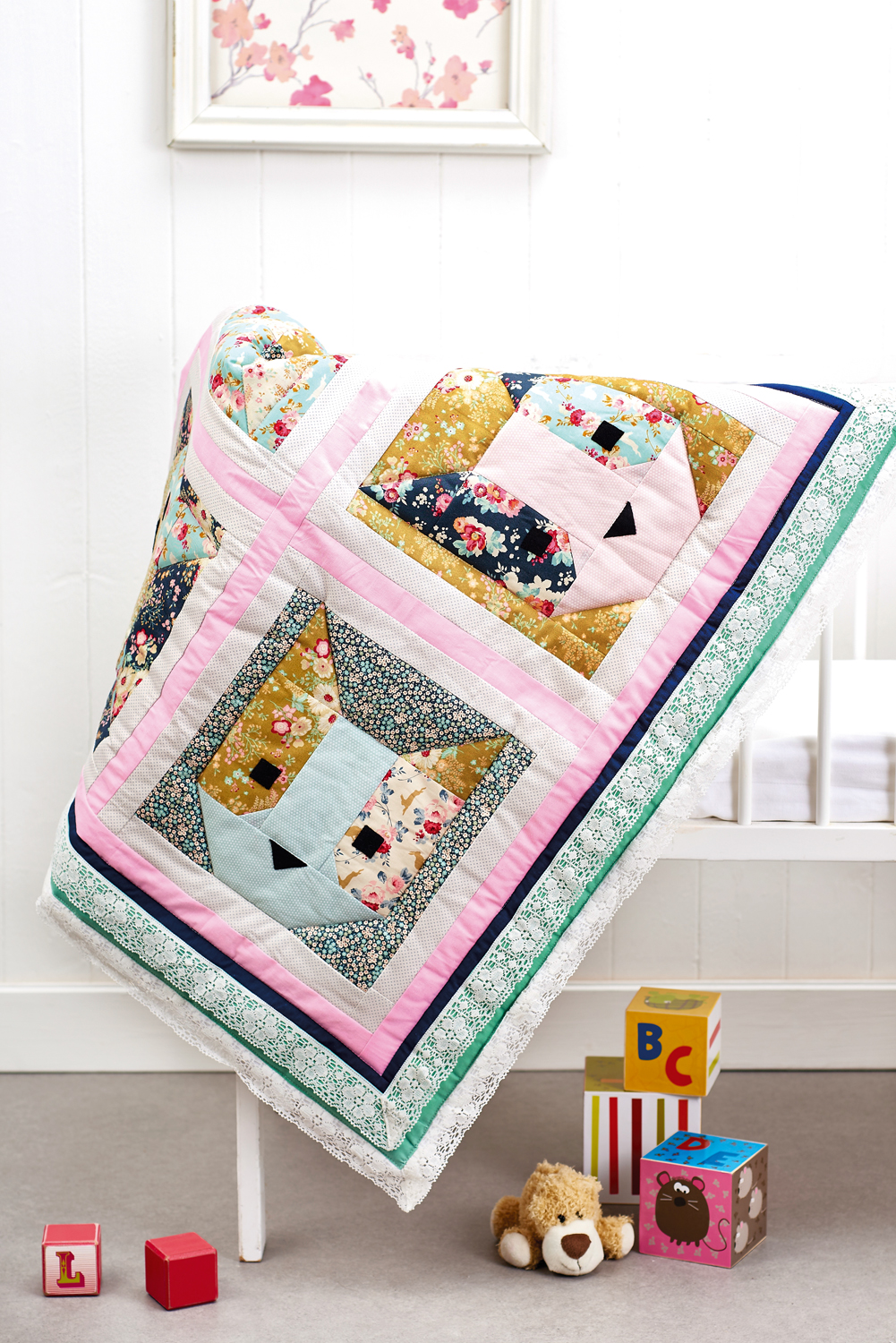 Cat Block Quilt Free Sewing Patterns Sew Magazine