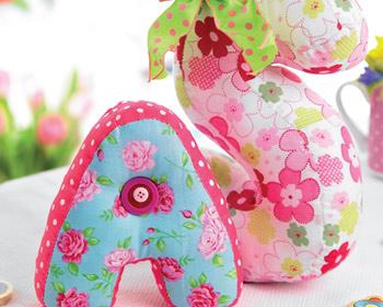 stuffed fabric letters free sewing patterns sew magazine