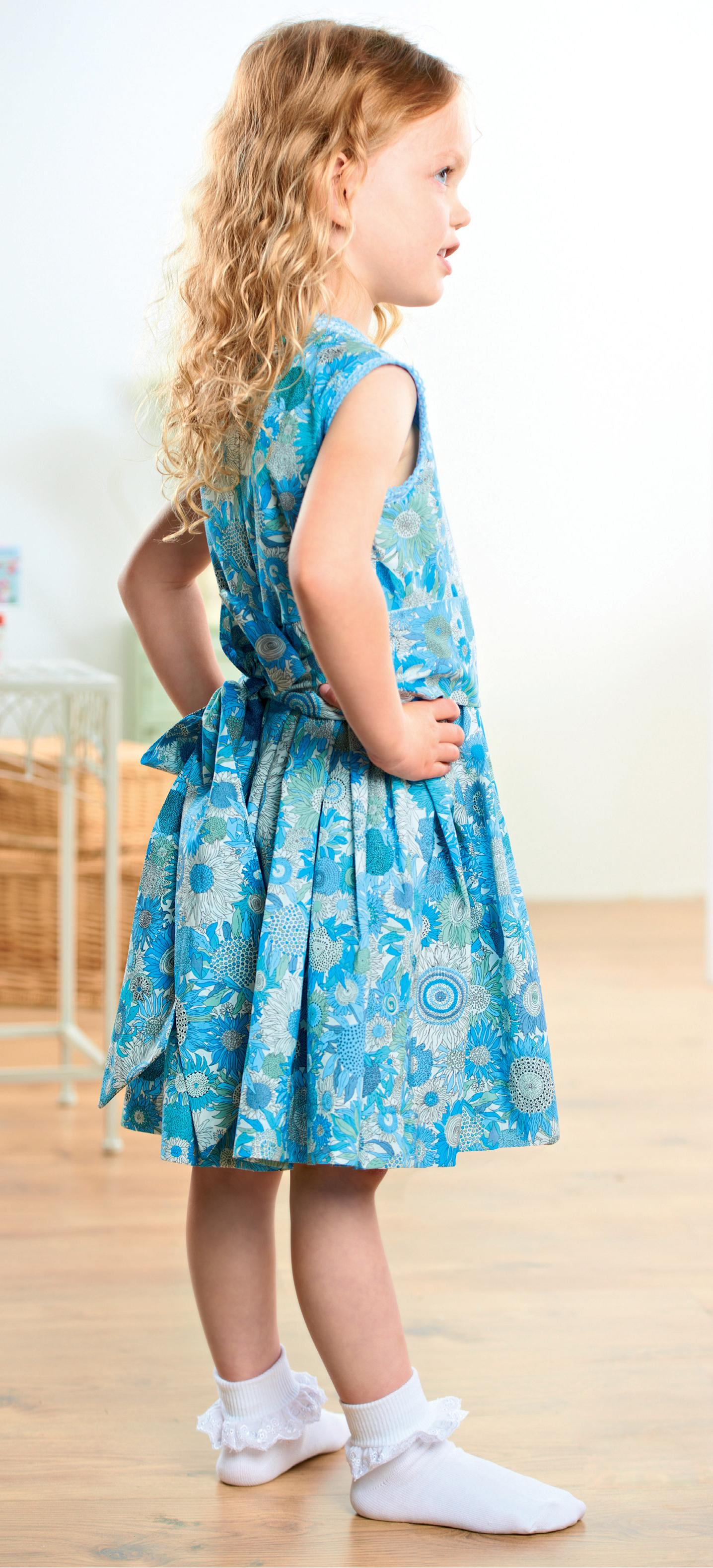Young Girl\'s Liberty Party Dresses - Free sewing patterns - Sew Magazine