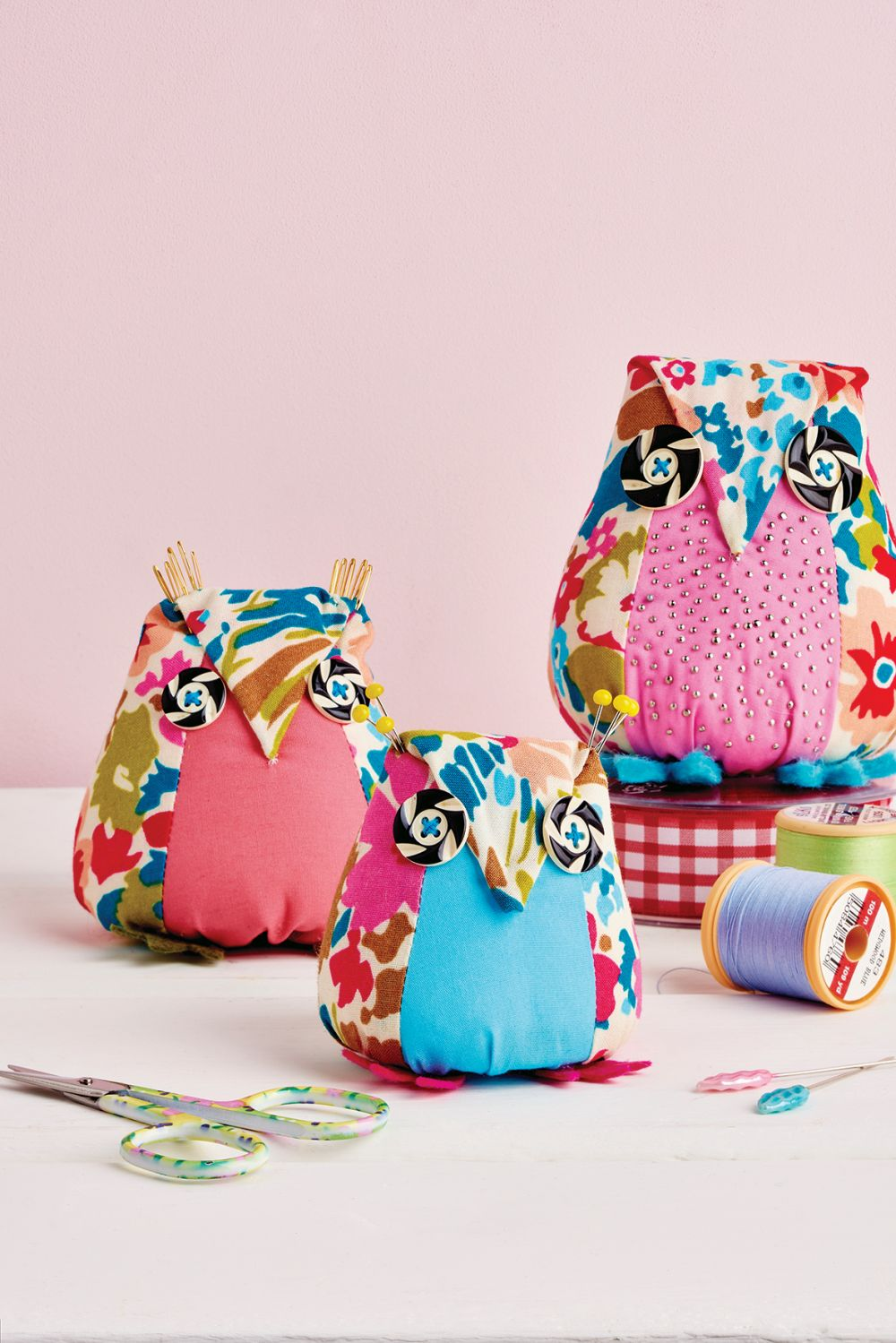 Aly Owl Pincushion Free Sewing Patterns Sew Magazine