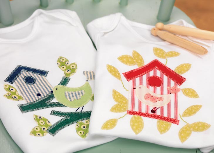 Appliqué Baby vests - Free sewing patterns - Sew Magazine