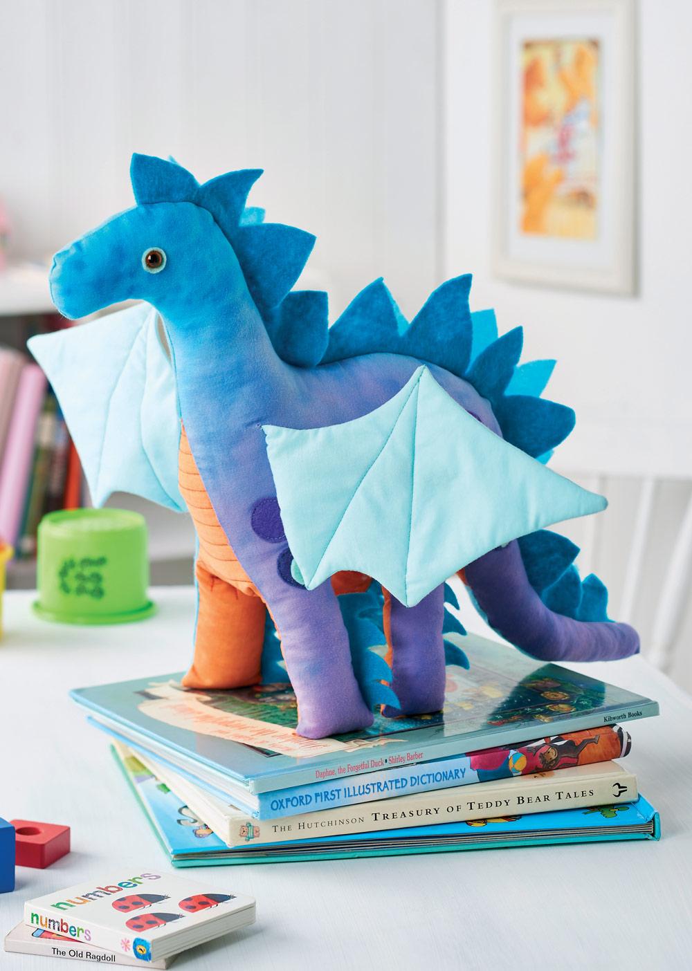 Nigel the Dragon Toy - Free sewing patterns - Sew Magazine