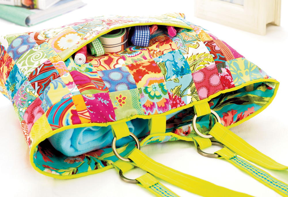 Patchwork Tote Bag Free Sewing Patterns Sew Magazine