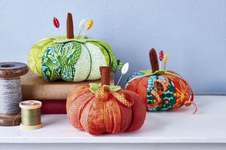 Pumpkin pincushions free sewing patterns sew magazine