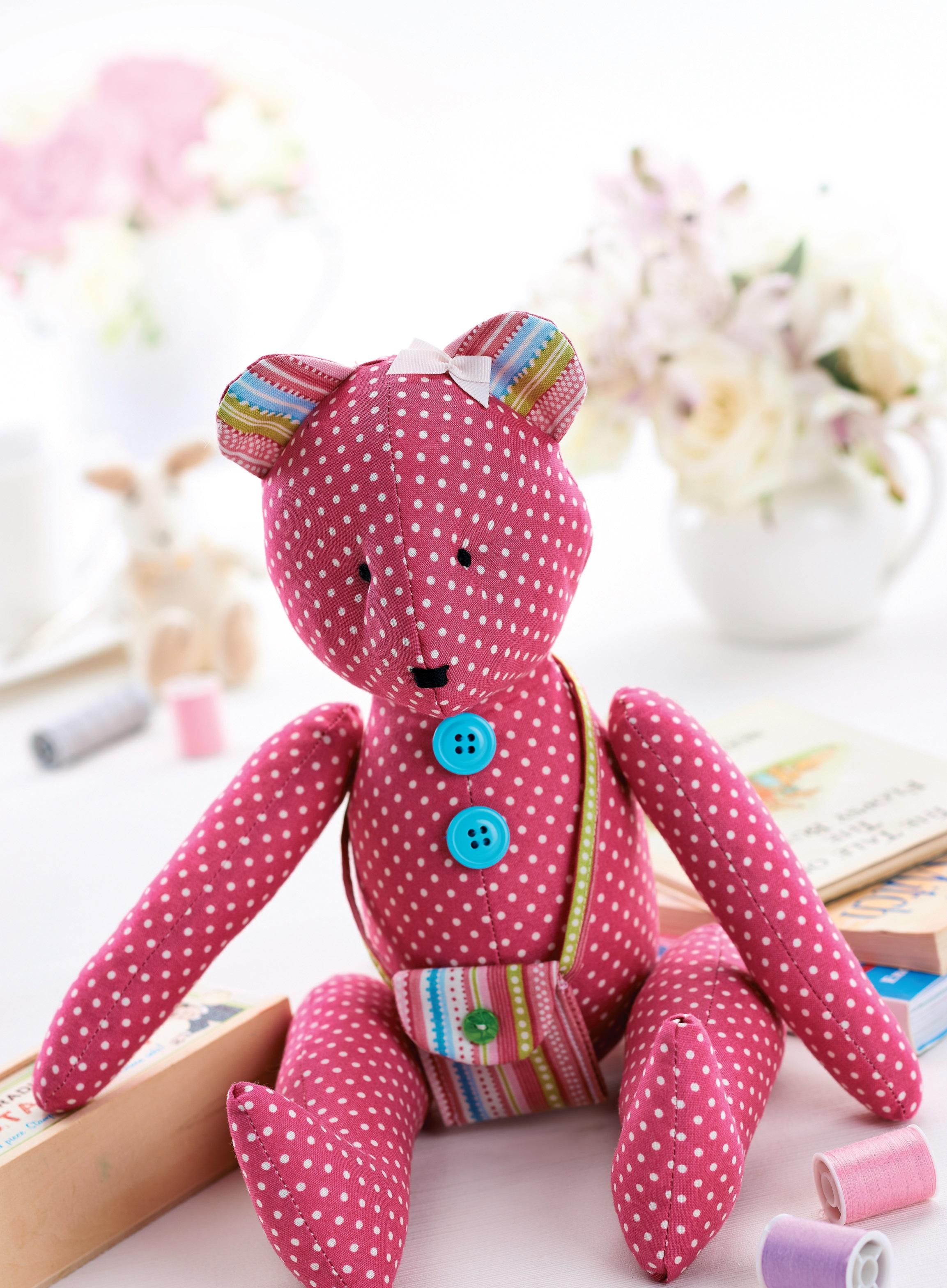 Flo Teddy Bear - Magazine Templates - Sew Magazine
